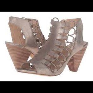 Vince Camuto Eliaz Distressed Gold Sandals